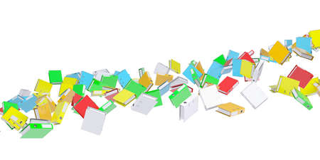 Stream office folders. Render on a white background Stock Photo - 17741702