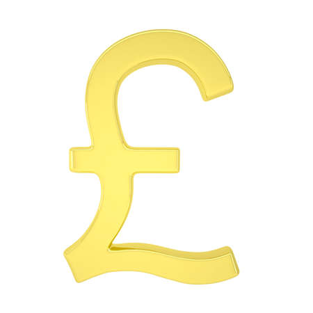 Gold pound  Isolated render on a white background photo