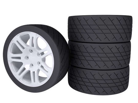 tire cover: Wheels  Isolated render on a white background