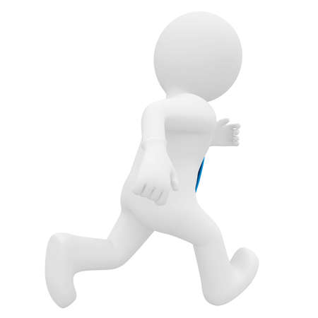 3D man running  Isolated render on a white background photo