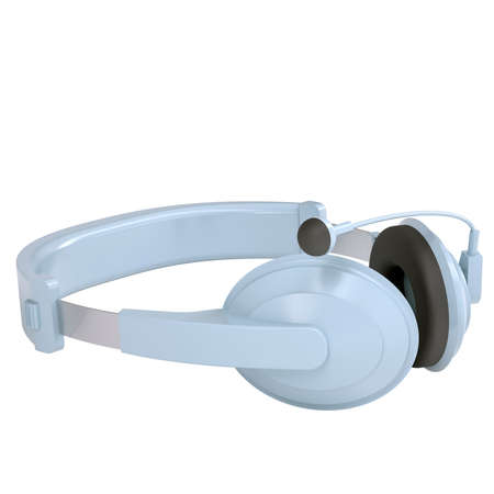 dee jay: Headset  Isolated render on a white background Stock Photo