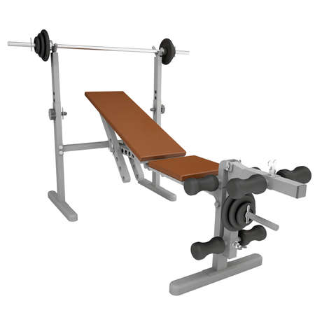 Fitness home gym  Isolated render on a white background Stock Photo - 18246295