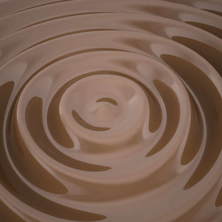 irresistible: Waves on the surface of the chocolate  3d render