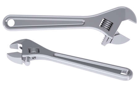 Metal wrench  Isolated render on a white background Stock Photo - 18376934