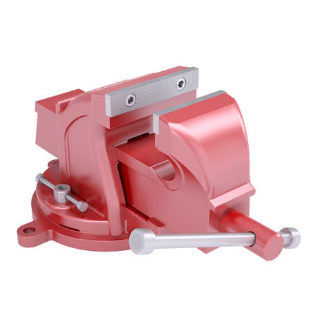 Red vise  Isolated render on a white background Stock Photo - 18376964