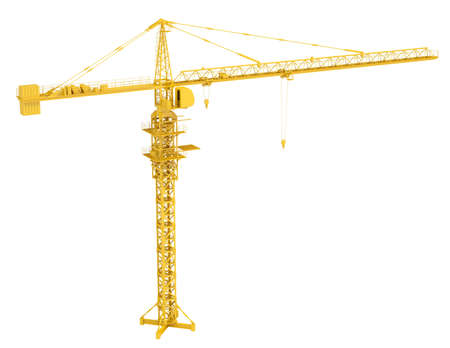 Tower crane  Isolated render on a white background photo