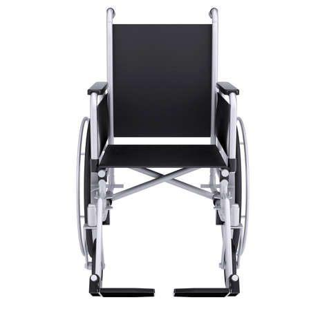 Wheel chair: Wheelchair  Isolated render on a white background Stock Photo