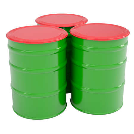 Green barrel  Isolated render on a white background photo