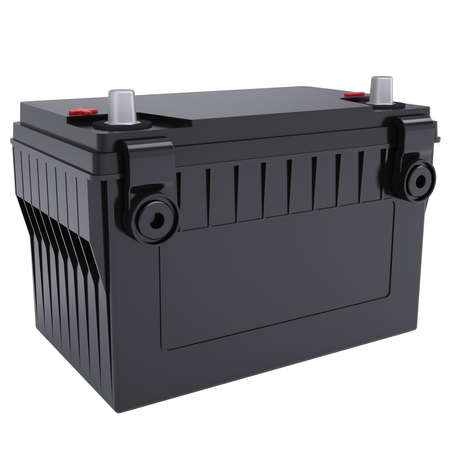 Car battery Isolated render on a white background