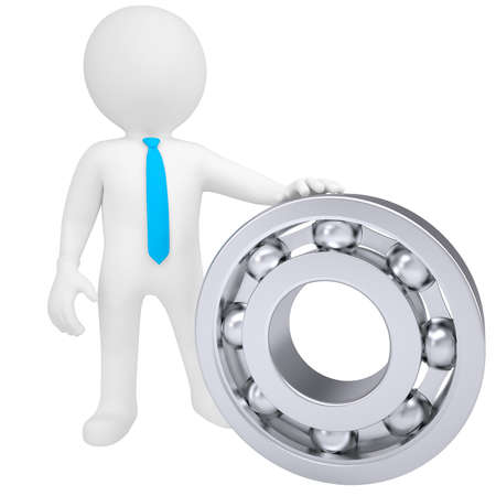 3d white man with the bearing  Isolated render on a white background