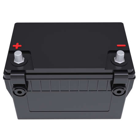 Car battery  Isolated render on a white background Stock Photo - 18594364