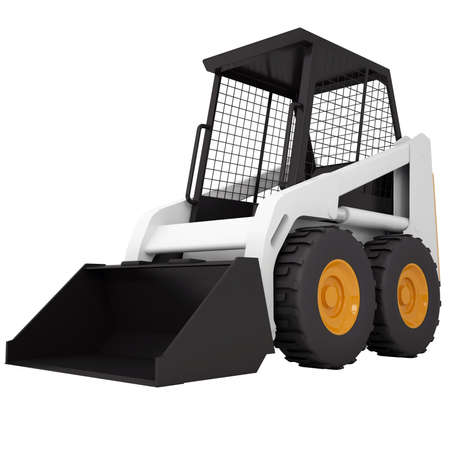 Small tractor  Isolated render on a white background Stock Photo - 18594378