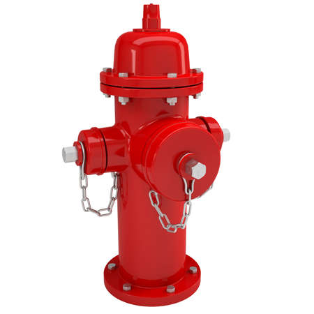 hydrant plug: Red fire hydrant  Isolated render on a white background