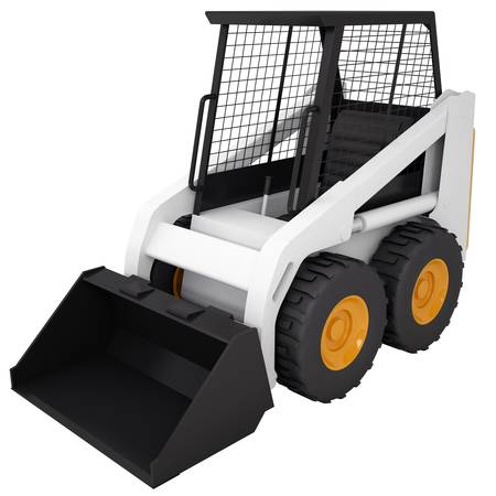 Small tractor  Isolated render on a white background Stock Photo - 18815452