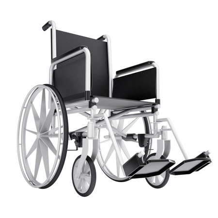 medicine wheel: Wheelchair  Isolated render on a white background Stock Photo