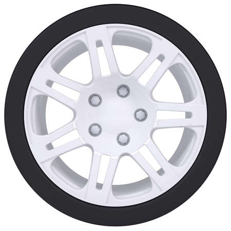 Car wheel  Isolated render on a white background photo