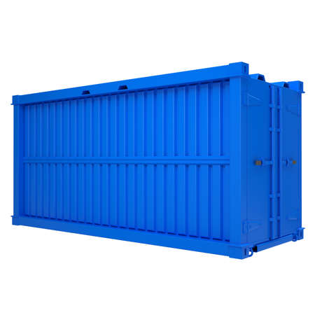 Blue container  Isolated render on a white background photo