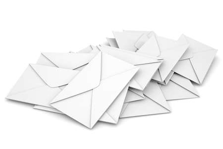 White envelopes  Isolated render on a white background photo