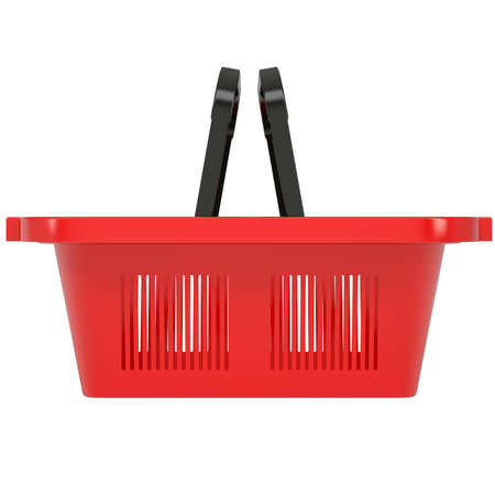 Red shopping basket  Isolated render on a white background Stock Photo - 19011825