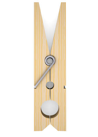 Wooden clothespin  Isolated render on a white background photo