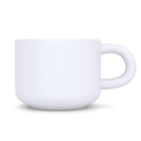 White coffee mug  Isolated render on a white background photo