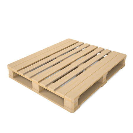 Wooden pallet  Isolated render on a white background photo