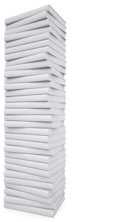A stack of white papers  Isolated render on a white background photo