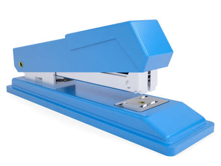 Blue small stapler  Isolated render on a white background photo