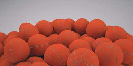 Groups of classical basketballs  3d render of studio Stock Photo - 19278861
