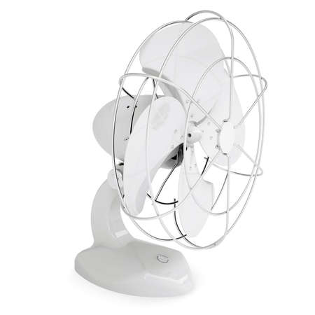 White desk fan  Isolated render on a white background photo