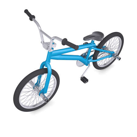 BMX bike  Isolated render on a white background photo
