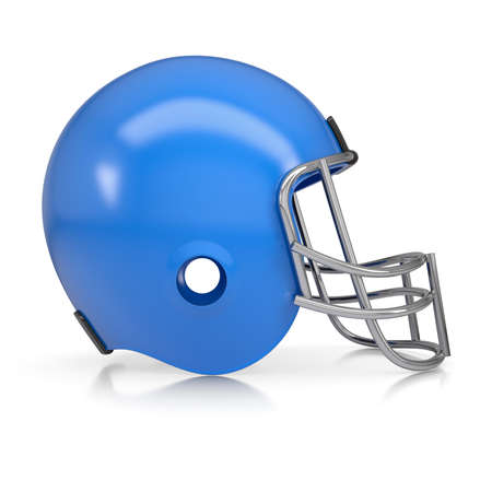 American football helmet  Isolated render on a white background photo