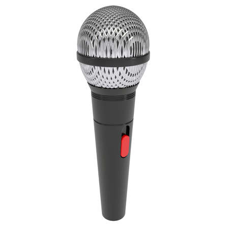 Microphone  Isolated render on a white background photo
