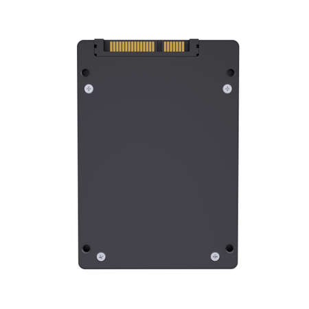 solid state drive: Solid-state drive with the crown  Isolated render on a white background