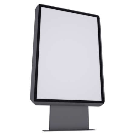 Advertising stand  Isolated render on a white background photo