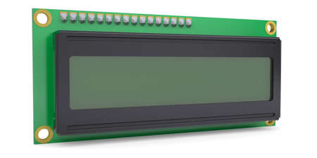 LCD Character Module Display  Isolateed render on white background Stock Photo