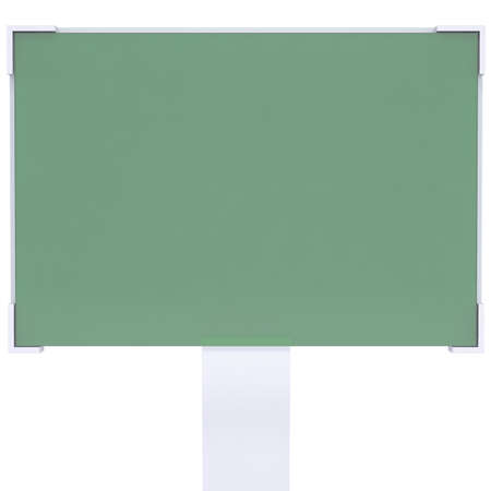 liquid crystal display: Liquid crystal display  Isolated render on a white background