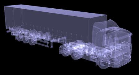 Big Zugmaschine Isolated übertragen von einem X-ray Standard-Bild - 21138204