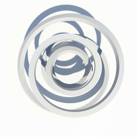 Abstract architecture  Isolated render on the white background Stock Photo - 21442001
