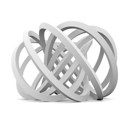 Abstract architecture  Isolated render on the white background Stock Photo - 21442094