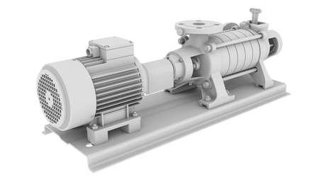 bomba de agua: Bomba de agua de procesamiento aislado en el fondo blanco Foto de archivo