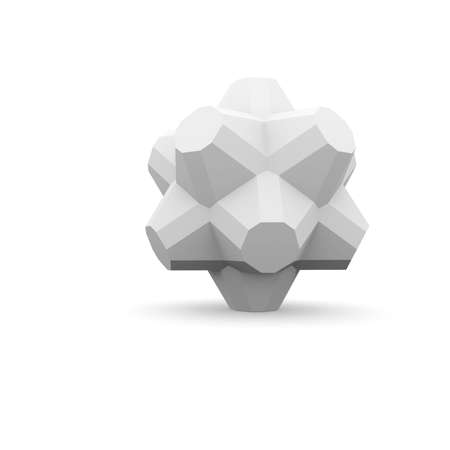 Abstract architecture  Isolated render on the white background Stock Photo - 21442155