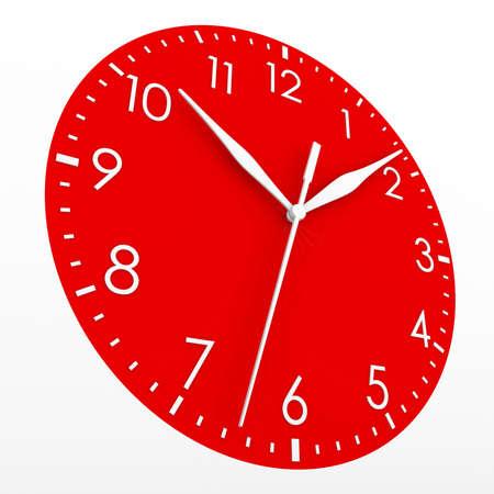 Red Zifferblatt machen Isoliert auf einem weißen Hintergrund Standard-Bild - 21484777
