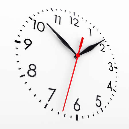 Clock face  Isolated render on a white background photo