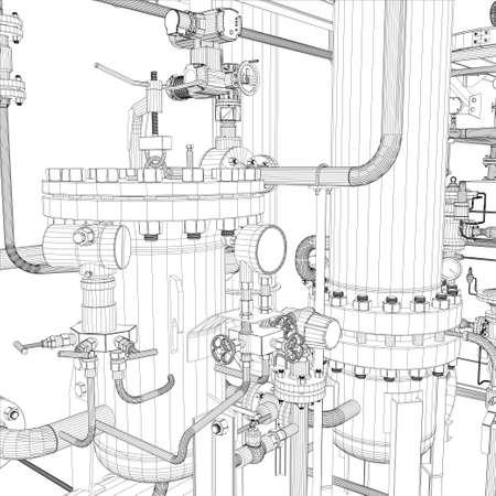 industria quimica: Equipos industriales Alambre-marco