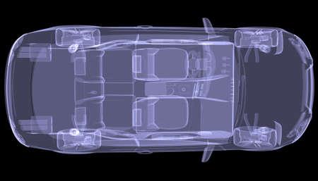 X-ray Concept Car Isolated render auf einem schwarzen Hintergrund Standard-Bild - 22310236