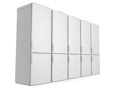 White refrigerators  Isolated render on a white background photo