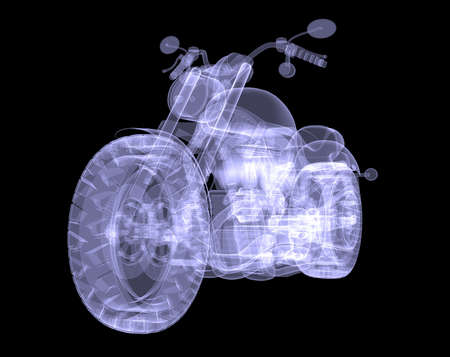 x ray machine: Chopper  The X-ray render on a black background Stock Photo