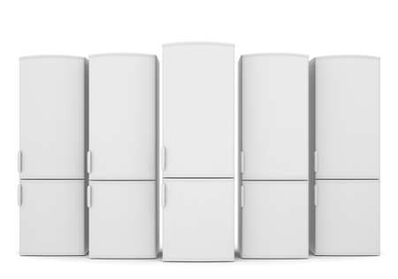 White refrigerators  Isolated render on a white background Stock Photo - 22318834