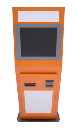 Information terminal with touch screen  Isolated render on a white background photo